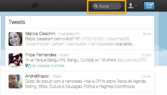 Twitter Search - Buscando no Twitter