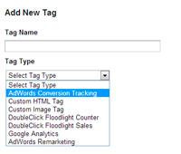 Configurando a tag de conversão Google AdWords