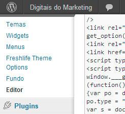 Editor do template do WordPress