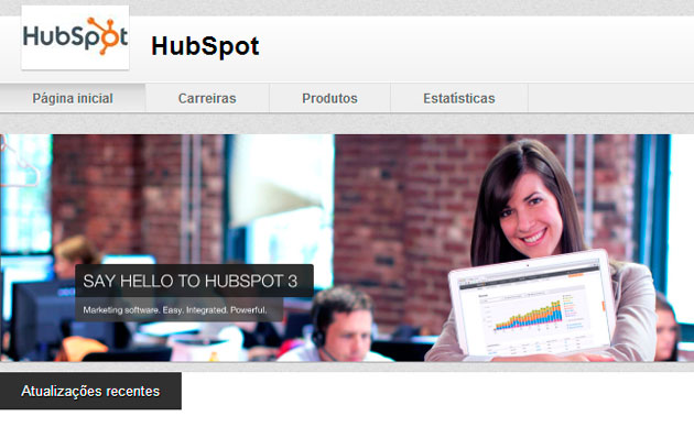 Página do Linkedin Hubspot
