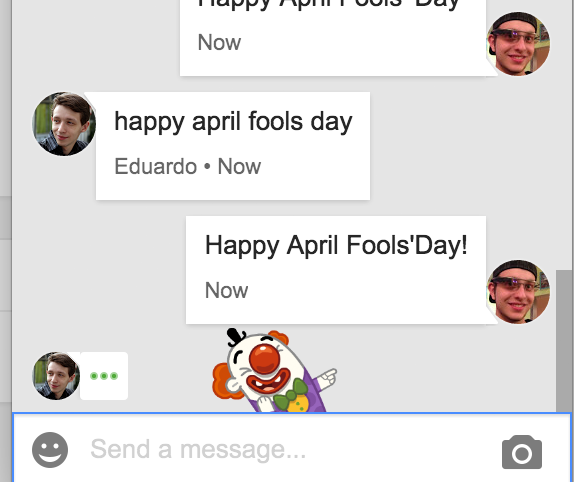 Easter Eggs Google Hangout April Fools Day