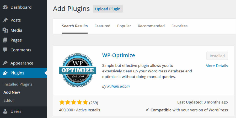 Install-WP-Optimize